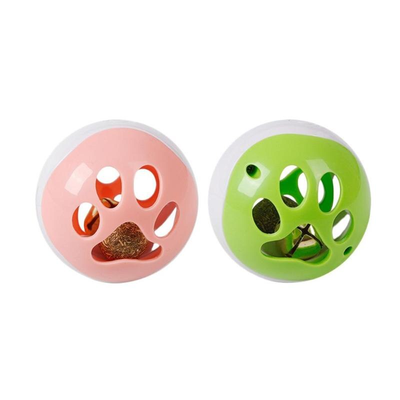 Cat Catnip Bell Balls Colorful Sound Electric Funny Pet Interactive Cat Ball Toys For Kitten w/ 3 LED Sounds Music Electric Ball - ebowsos