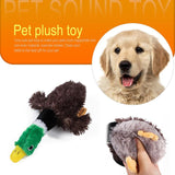 Cute Dogs Plush Toy Pet Dog Wild Duck Squeak Bite Chew Molar Interactive Toys Dual Stitching Durability And Freight Reduction - ebowsos