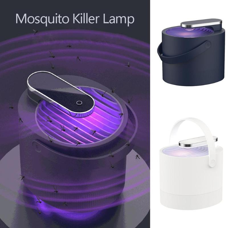 DC5V USB Electric Mosquito Killer Photocatalysis Mute LED Lamp UV Bug Zapper Mosquito Insect Trap Light 131*121*112mm - ebowsos
