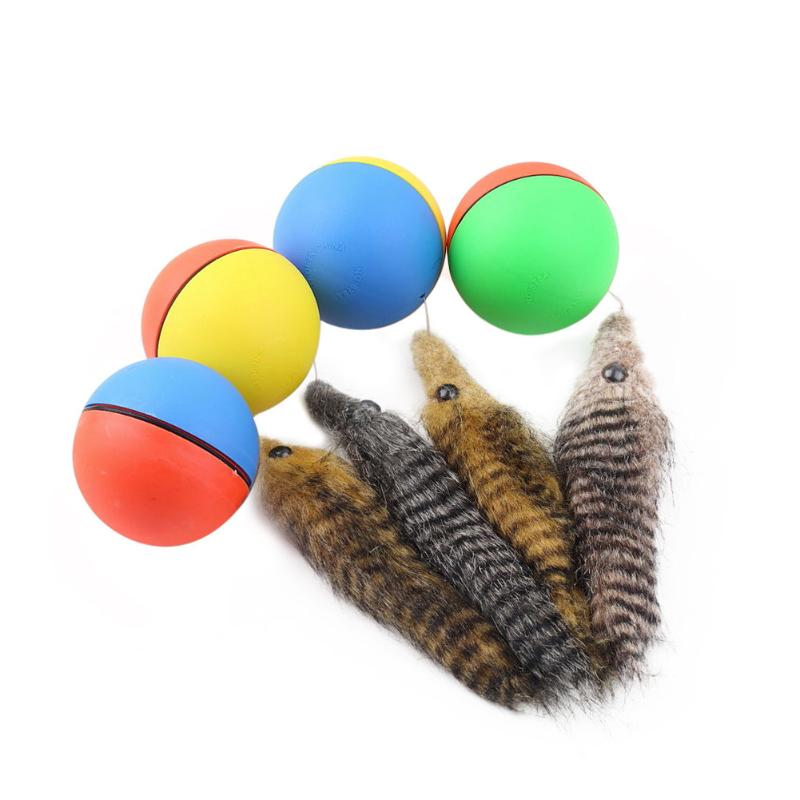 Dog Cat Beaver Weasel Puppy Rolling Play Random Alive New Pet Toy Jump Ball - ebowsos