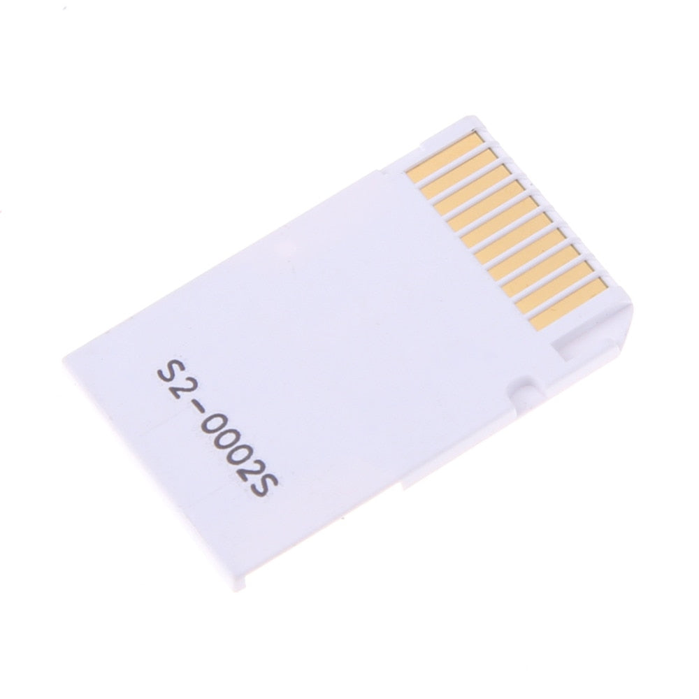 Dual 2 Slot Micro For SD SDHC TF to Memory Stick MS Card Pro Duo Reader Adapter For PSP Card Reader High Quality Accessories - ebowsos