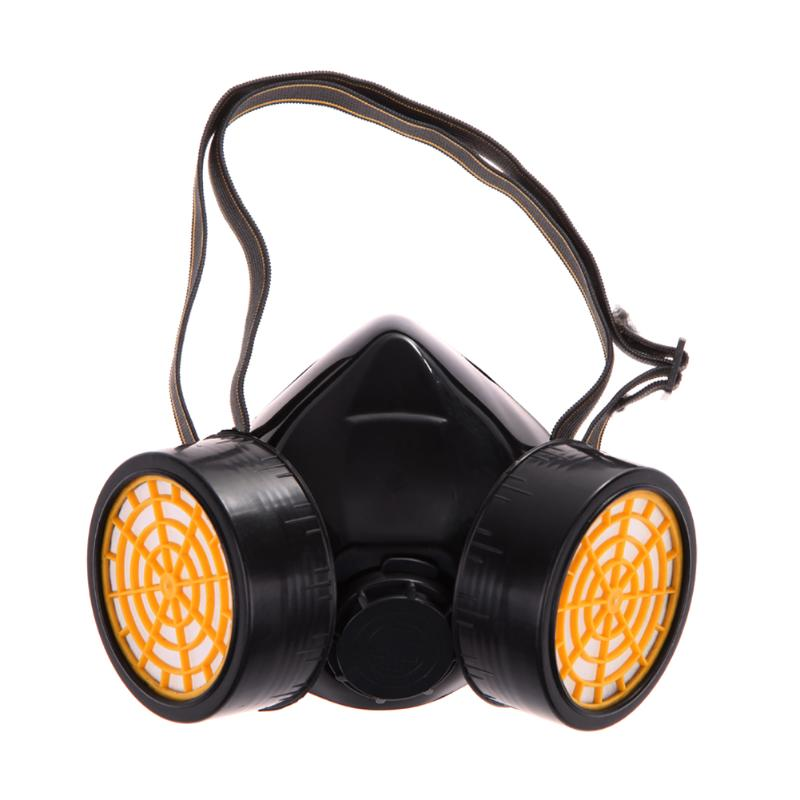 Dual Gas Filter Anti Dust Paint Respirator Mask Goggles Industrial Safety - ebowsos