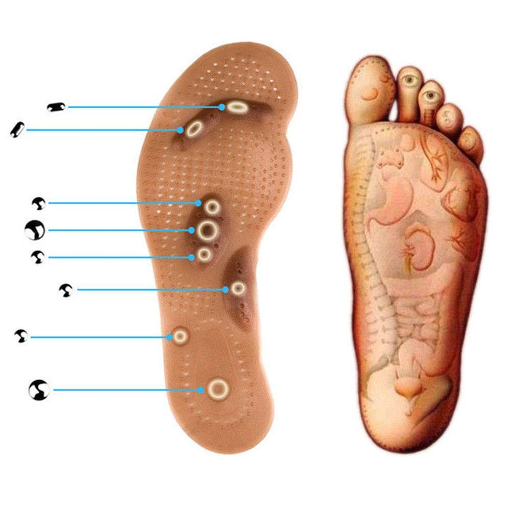 Foot Care Cushion Acupressure Slimming Insole Pad Magnetic Massage Insoles New