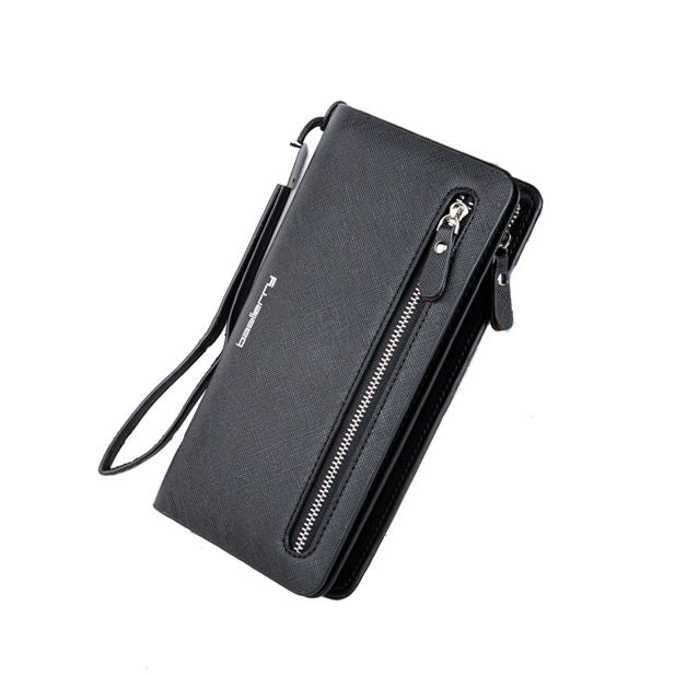 Big Promotion!!!Womens wool ball solid color leather zipper multi-function coin purse clutch bag mobile phone bag