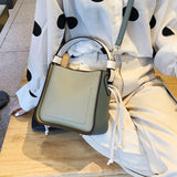 Fashion Large Capacity Bucket Shoulder Bag Women Crossbody Bag Female All-Match Large Capacity Pu Leather Handbag - ebowsos