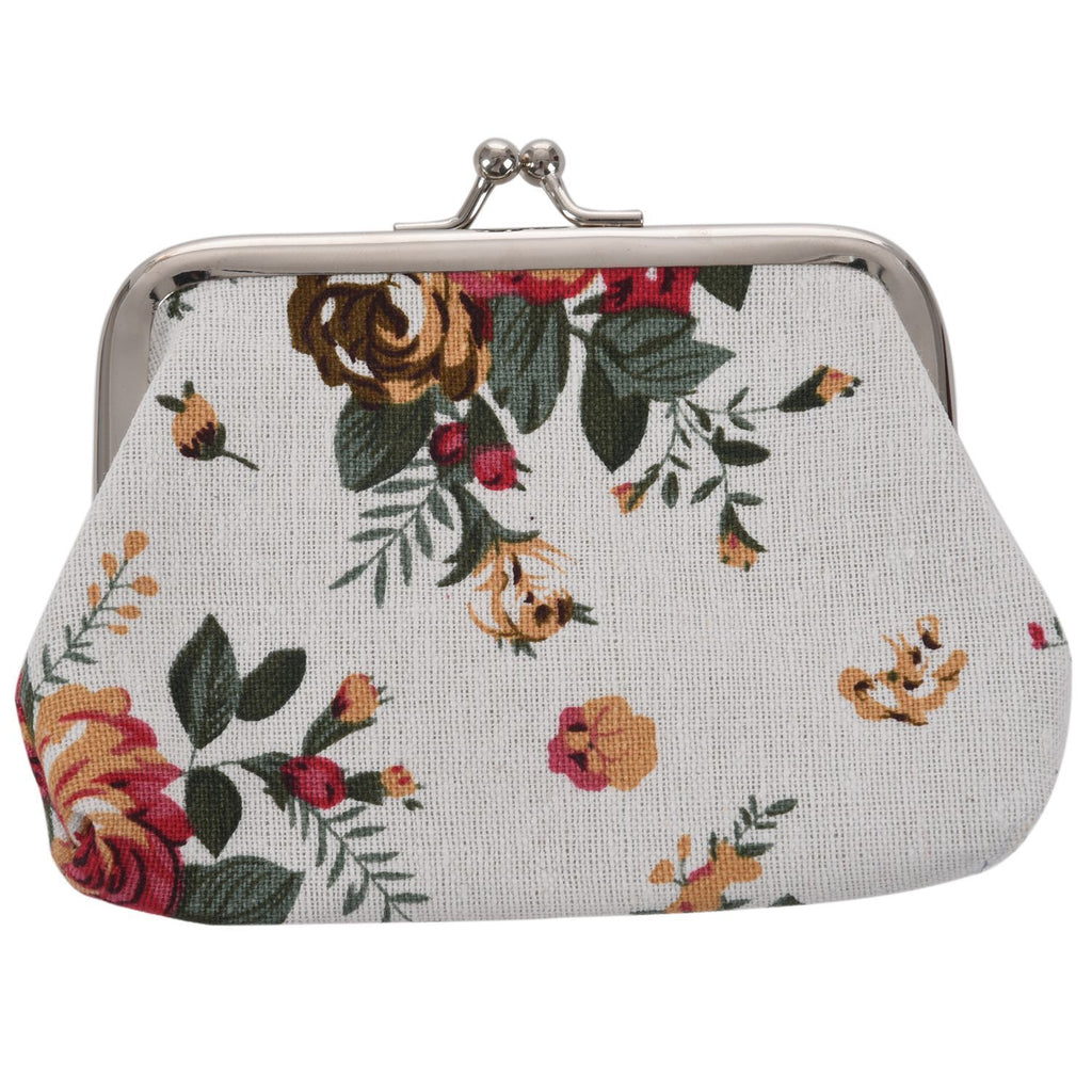 Small Purse Big Sunflowers And A Beautiful Butterfly Designer Coin Case for Girls