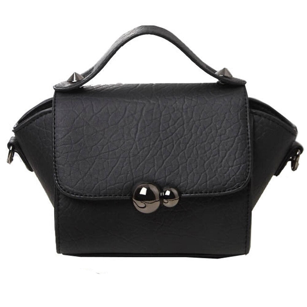 061b96d1ec9 New Spring and Summer Women Bags Gourd Lock Button Portable Small  Top-Handle Bags Women Shoulder Bag(Black)