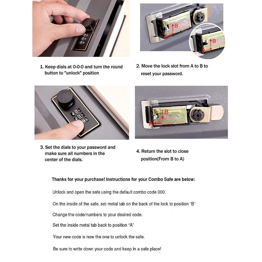 Portable Mini Vault Case with Combination Lock Keyless Security Safe Box  for Home Car Office with Code Lock for Valuables