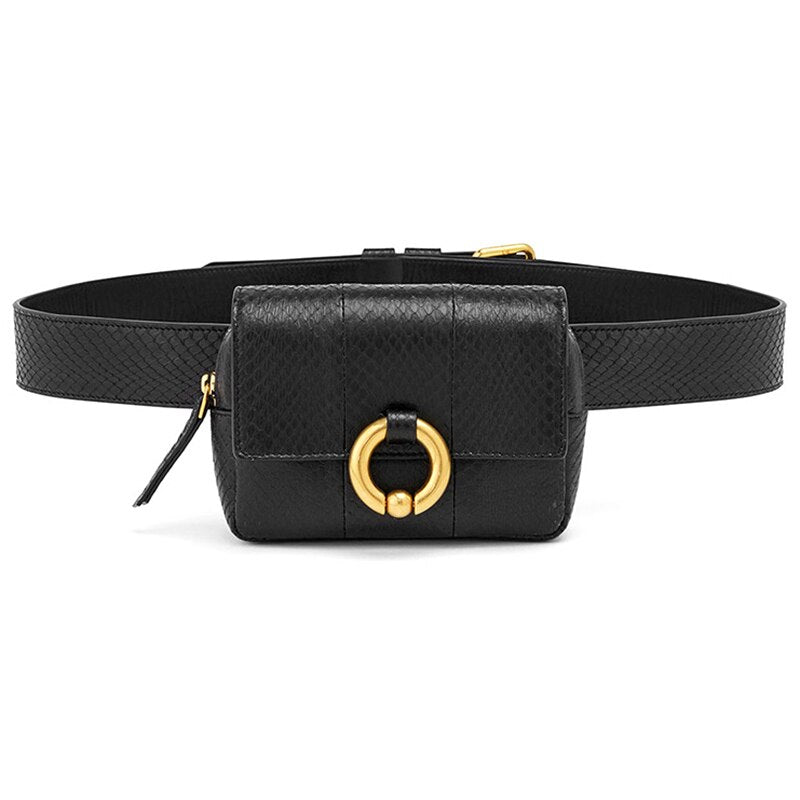 Women/'s Waist Bags Handy Crystal Belt Fashion Fanny Pack Phone Pouch Leather New