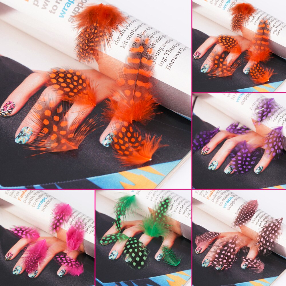 Fashion Feather Nail Art Water Transfer Decals Sticker French Tips Decor Drop Shipping - ebowsos