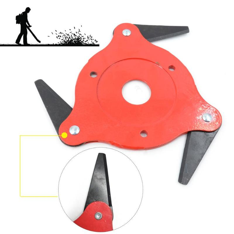 Garden Lawn Mower Blade Manganese Steel Grass Trimmer Brush Cutter Head High Hardness Sharper More Durable Easy to Install - ebowsos
