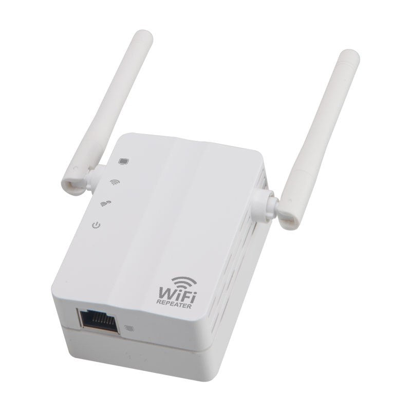 High Flexibility 300Mbps Wireless-N Range Extender WiFi Repeater Signal Booster Network Wireless Router White - ebowsos