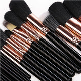 Make Up Brushes 29 Pcs Profeesional Makeup Brush Set With Case Top Nature Bristle And Synthetic Hair Makeup Brushes Set - ebowsos