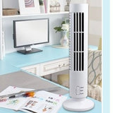 Portable USB Vertical Bladeless Fan, Mini Air Condition Fan Desk Cooling Tower Fan for Home - ebowsos