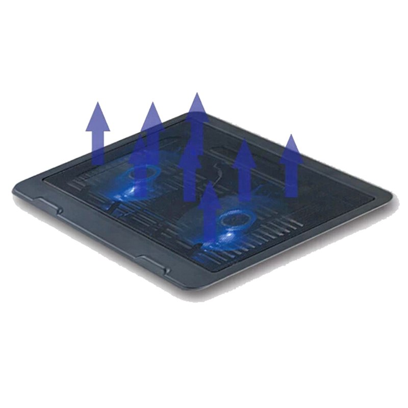 "Laptop Cooling Pad Notebook Stand cooling laptop With 2 Quite Fan & blue LED Lights For 11-15"" Laptop cooler Fixture for laptop - ebowsos"