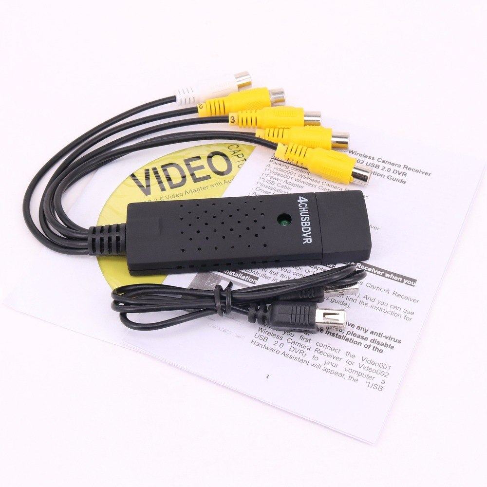 4 Channel USB2.0 USB Video Capture Grabber card to VHS to DVD recorder Capture Adapter - ebowsos