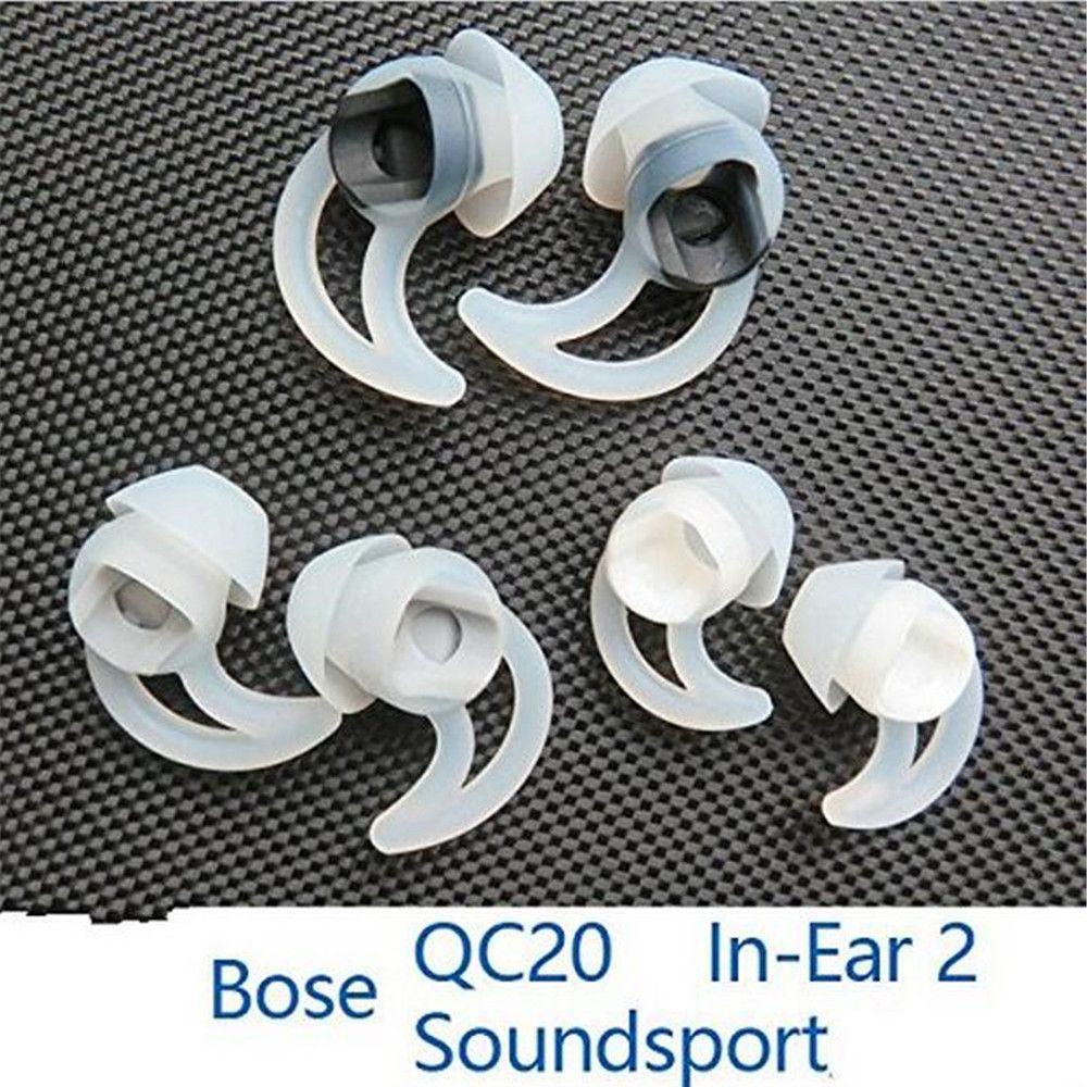 White Soft Replacement Ear Bud Tips For BOSE QC20i QC20 Quiet Comfort Earphones Headphone 3Pairs(S+M+L) - ebowsos