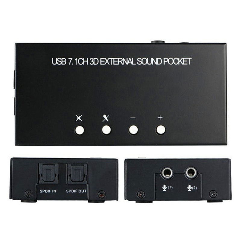 7.1 Channel External USB Sound Card Sound Box with Driver CD Digital Audio Streaming Vista Sound Card Adapter for Computer - ebowsos