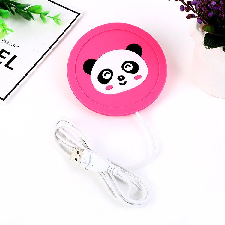 Cute Cartoon 5V USB Warmer Silicone Heat Heater for Milk Tea Coffee Mug Hot Drinks Beverage Cup Mat Kitchen Tools Heater New - ebowsos