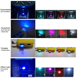 Car Atmosphere Lights LED Mini USB Cigarette Lighter Decorative Lights Lamp - ebowsos