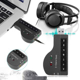 External USB Sound Card Adapter 8.1 Channel 3D Audio Headset Microphone 3.5mm Jack sound cards for PC Laptop - ebowsos