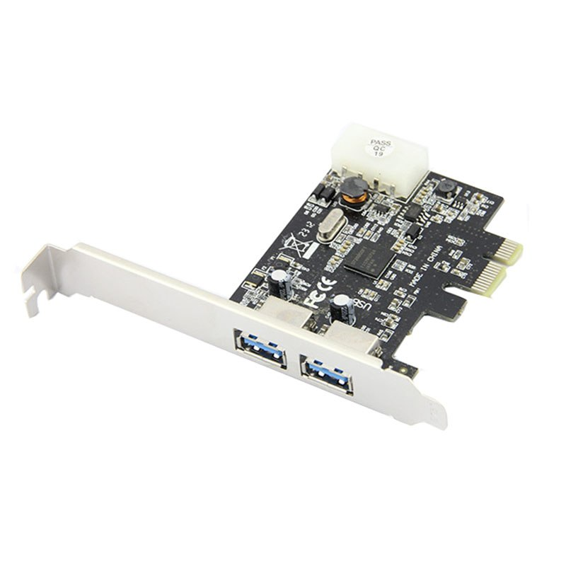 2 ports USB 3.0 PCI-e Controller Card  + PCIe Low Profile Bracket PCI Express to USB3.0 Converter Adapter NEC chipset - ebowsos