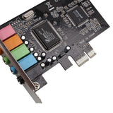 New PCI Express x1 PCI-E 5.1ch CMI8738 Chipset Audio Digital Sound Card Solid capacitors pcie sound card 5.1 - ebowsos