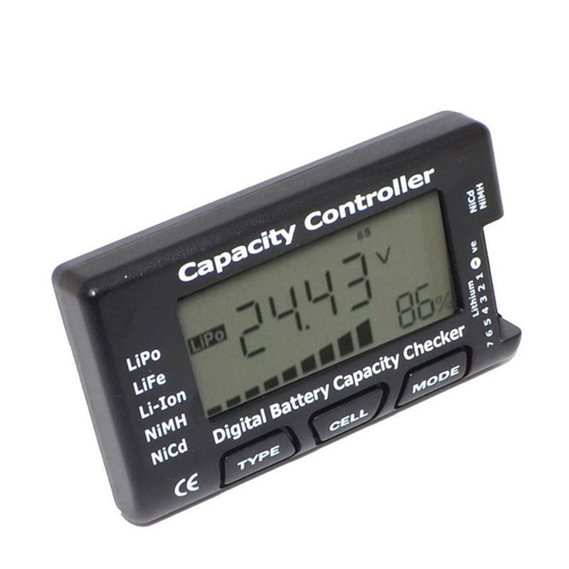 Digital Battery Capacity Checker RC CellMeter 7 For LiPo LiFe Li-ion NiMH Nicd Network tool - ebowsos