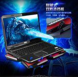 "Professional Game USB laptop Cooler With 4 Fans Slide-proof Laptop Stand 14""15.6"" 17 Inch Laptop Cooling Pads Notebook Fan - ebowsos"