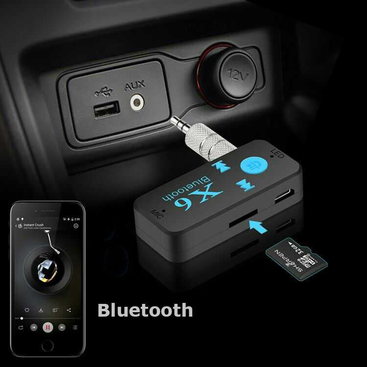 Car Kit Bluetooth 3.5mm USB AUX Audio Stereo Music Home Car Receiver Adapter A2DP TF Card Car Electronics bluetooth dongle - ebowsos