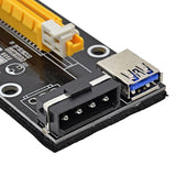 PCI-E 1x to 16x extender PCI Express Riser Card 60cm USB 3.0 SATA to 4Pin IDE Molex Adapter for Mining Bitcion Miner - ebowsos