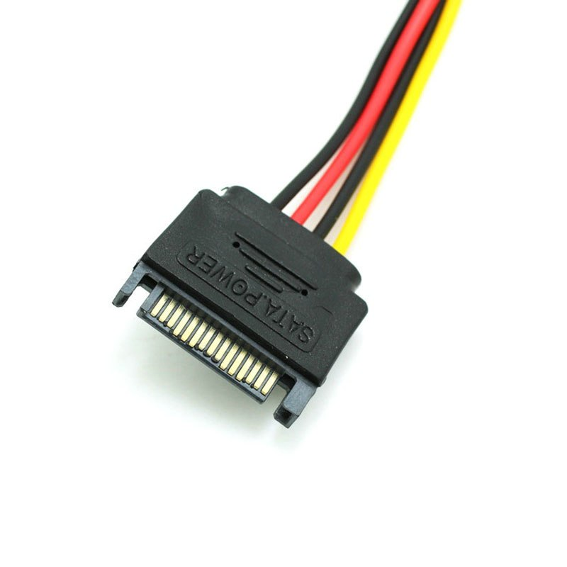 SATA 15Pin male to 4Pin Female FDD Floppy  Adapter Hard Drive Power Cables Cord - ebowsos