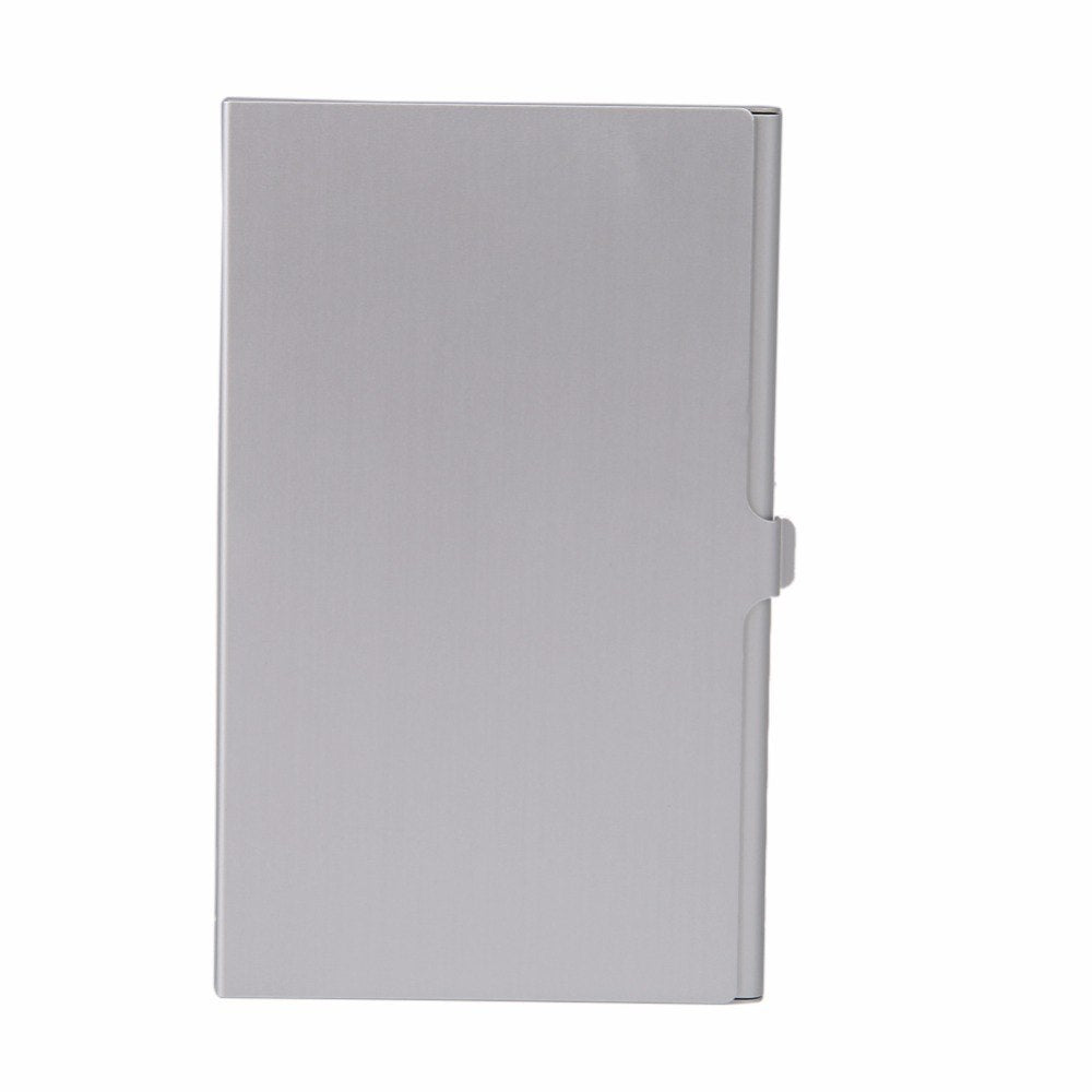 Portable Aluminum Memory card storage case 2 SD+ 2TF Micro SD Cards Pin Storage Box Durable Practical  Case Holder Silver - ebowsos