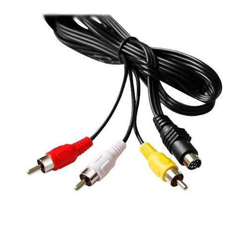 7 pin 5 ft S-Video to 3 RCA TV Male Cable Adapter Cord for Laptop - ebowsos