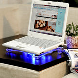 NEW USB 3 FAN TRANSPARENT NOTEBOOK LAPTOP COOLING COOLER PAD STAND - ebowsos