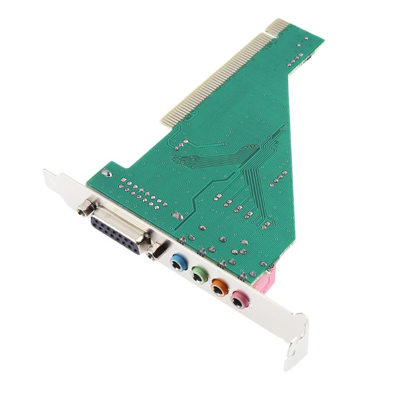 4CH CMI8738 Chipset Stereo Sound PCI Port Audio Card Computer Sound Cards with Driver CD for Desktop PC - ebowsos
