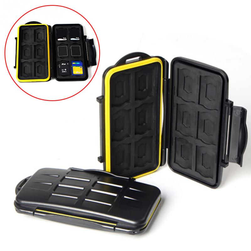 SDMSD12 Memory Card Case Anti-shock Waterproof Tough Micro SD Card Case for 12 SD card + 12 TF card - ebowsos