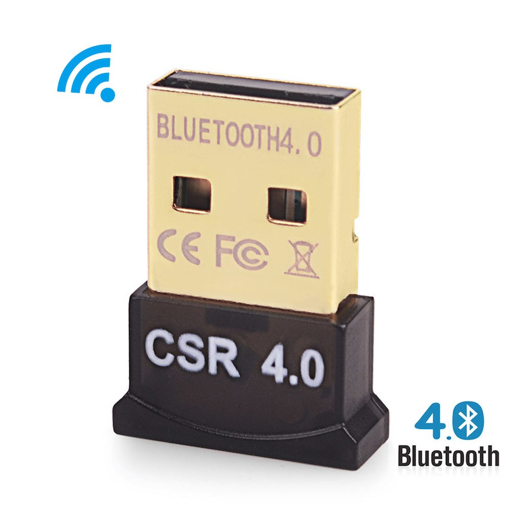 New Mini USB Bluetooth Dongle Adapter V4.0 Dual Mode Wireless Dongle CSR 4.0 For Windows 10 Win 7 8 Vista XP Laptop - ebowsos