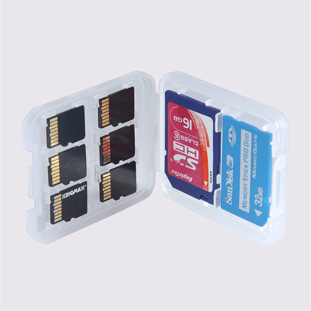 8 in 1 Plastic Micro for SD SDHC TF MS Memory Card Storage Case Box Protector - ebowsos