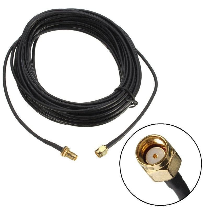 Brand New 9m RP-SMA Male to Female Jack Wifi Antenna Extension Cable Lead Wire Gold Plated High Quality - ebowsos