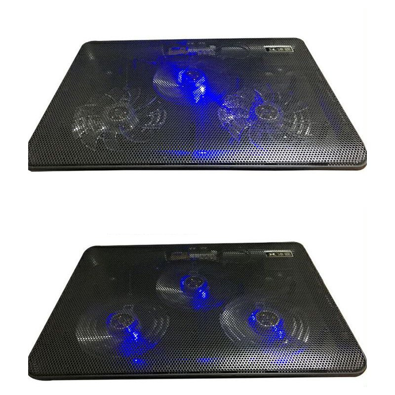 "Fan Cooling Quiet Laptop Cooling Pad Blue LED Laptop Cooler USB Notebook Cooler with 3 Fans for 12""-16"" Laptop - ebowsos"