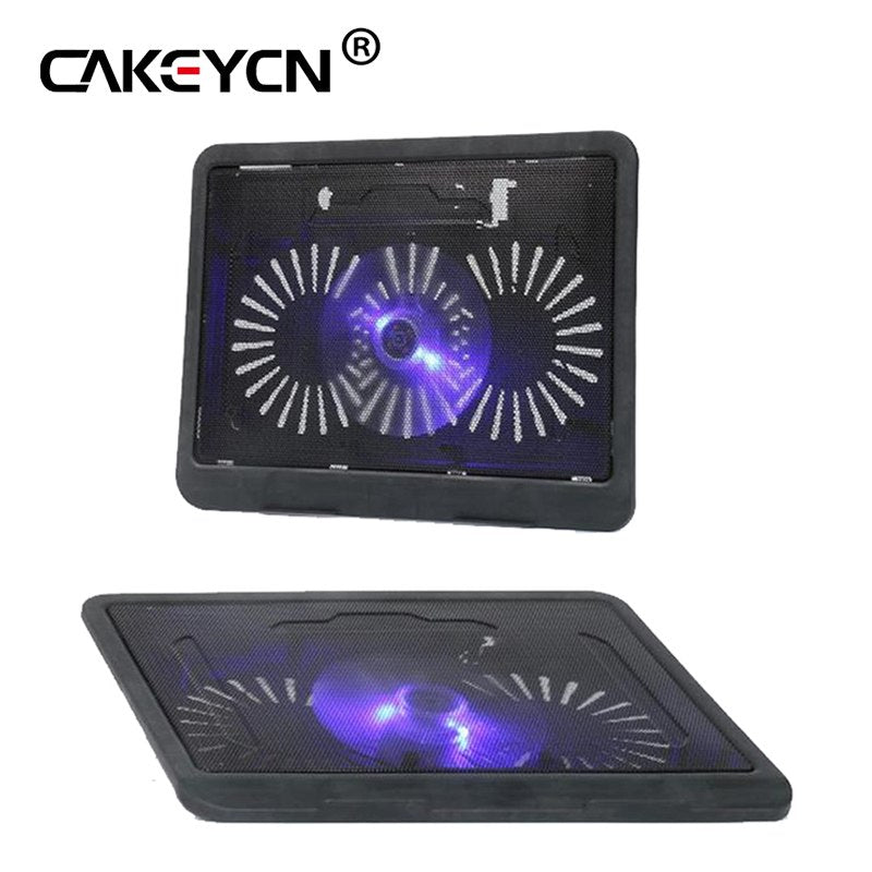 14 inches or less laptop Cooling Pad Laptop Cooler USB Hub with Big Cooling Fans Light Notebook Stand and Quiet Fixture - ebowsos