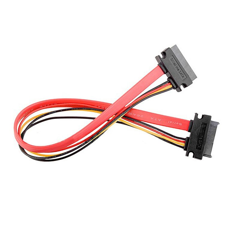0.5m 7+6pin SATA Cable to 6+7pin Serial ATA SATA Data Power Cable M/F Notebook Drives Extension Cable Connector Conterver - ebowsos