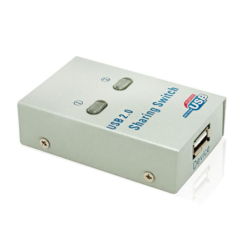 PC Computer USB 2.0 Auto / Manual Sharing Switch Hub 2 Port Adapter for Printer Scanner Plotter sharing adapter - ebowsos