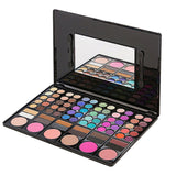 78 Colors Shimmer Matte Eyeshadow Makeup Palette Face Bronzer Blusher Professional Eye Shadow Smoky Pigment Powder with Mirror - ebowsos
