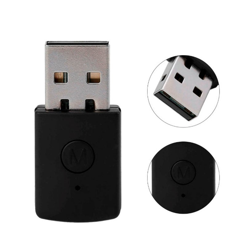 3.5mm Bluetooth 4.0 + EDR USB Bluetooth Dongle Latest Version USB Adapter for PS4 Stable Performance for Bluetooth Headsets - ebowsos