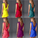 European style fashionable seaside holiday dress beach dress bikini V-neck sleeveless vest dress - ebowsos