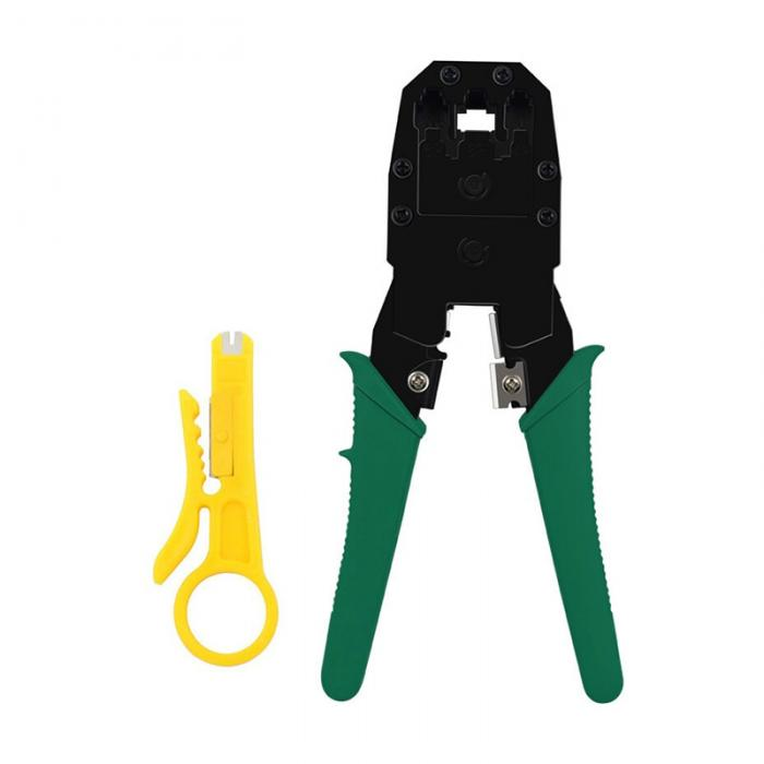 9 in1 LAN Network Repair Cable Tester Crimper Plier Hand Tool Kit Cat5 RJ45 RJ11 RJ12 Stripping Make Ethernet Connector Test - ebowsos