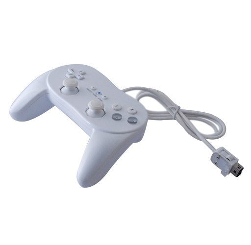Classic Pro Controller for Nintendo Wii Game Remote White - ebowsos