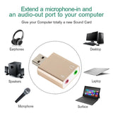New External Sound Card 7.1 usb audio Adapter card With USB To Jack 3.5mm Converter For Laptop Computer Headphone Sound Card - ebowsos
